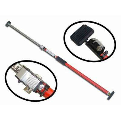 Sparehand Steel Adjustable Cargo Bar with Self-Locking Spring Ratchet for Vehicles, Extends 3.6 ft. to 6 ft., Red