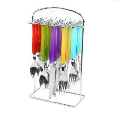 Santoro 20-Piece Assorted Color Stainless Steel Flatware Set