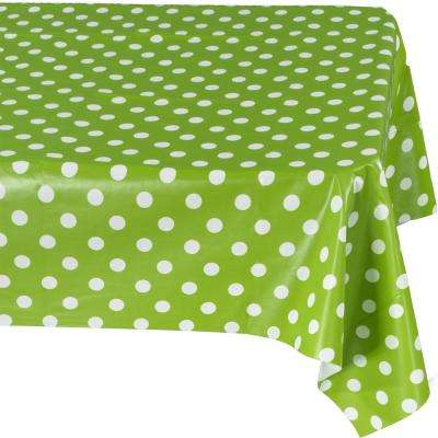 55 in. x 70 in. Green Indoor and Outdoor Sunflower Design Table Cloth for Dining Table