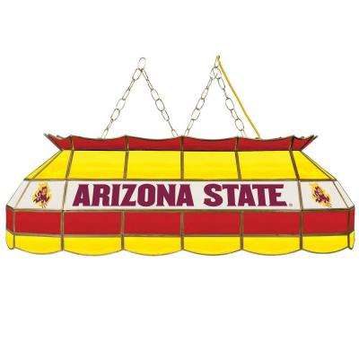 Arizona State University 40 in. 3-Light Stained Glass Tiffany Lamp