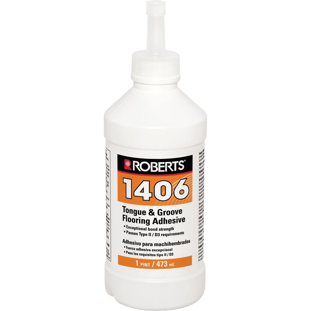 Roberts 1406 16 oz. Tongue and Groove Adhesive in Pint Applicator Bottle