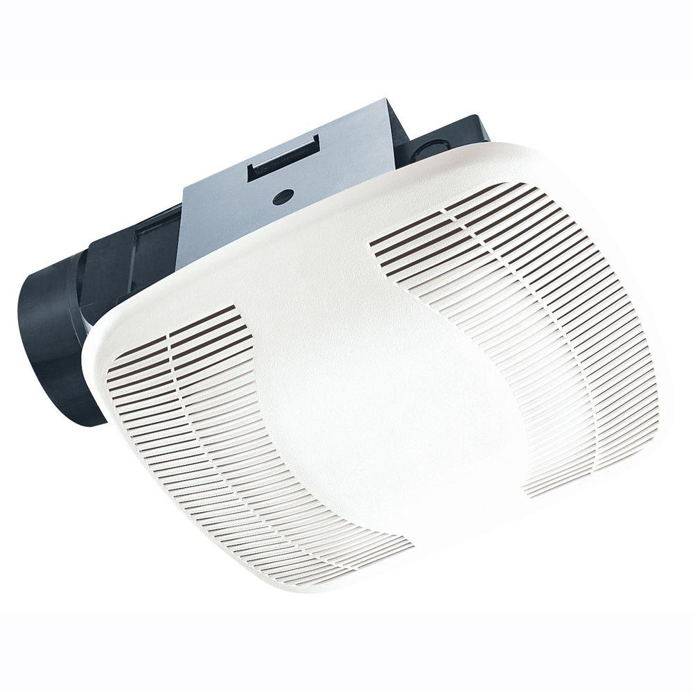 Air king high performance 70 cfm ceiling exhaust bath fan energy star bfq75 the home depot for Residential exhaust fans for bathrooms