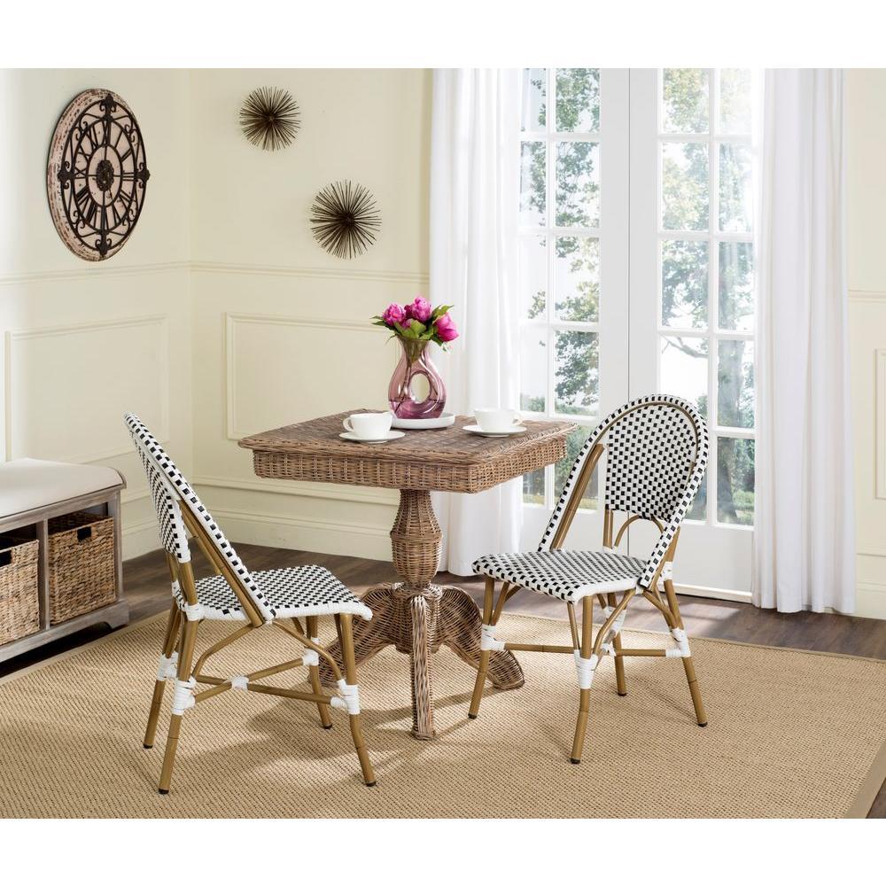 Salcha Black Patio Dining Chair (2-Pack)