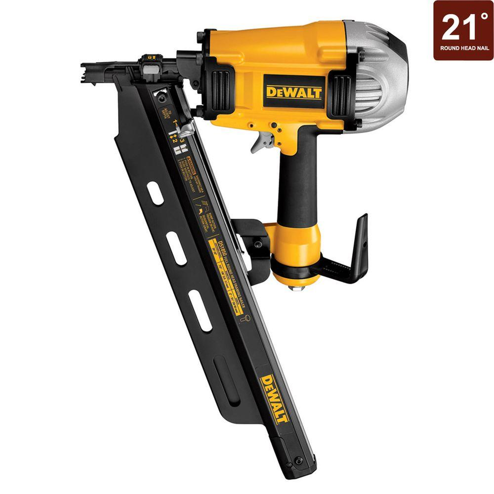 DEWALT 21 Degree Full Round Head Framing Nailer with Polyurethane Air Hose-DISCONTINUED