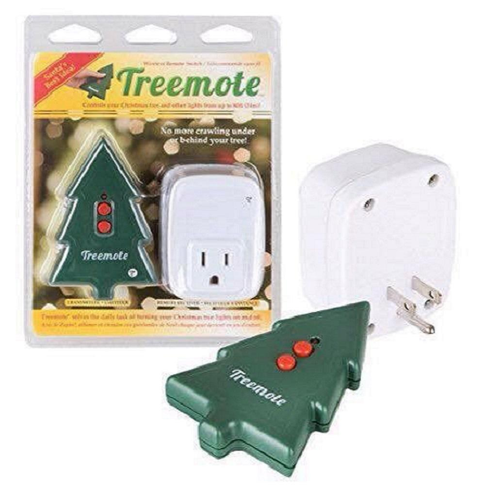 TREEMOTE Wireless Remote Switch for Christmas Lights Battery Included