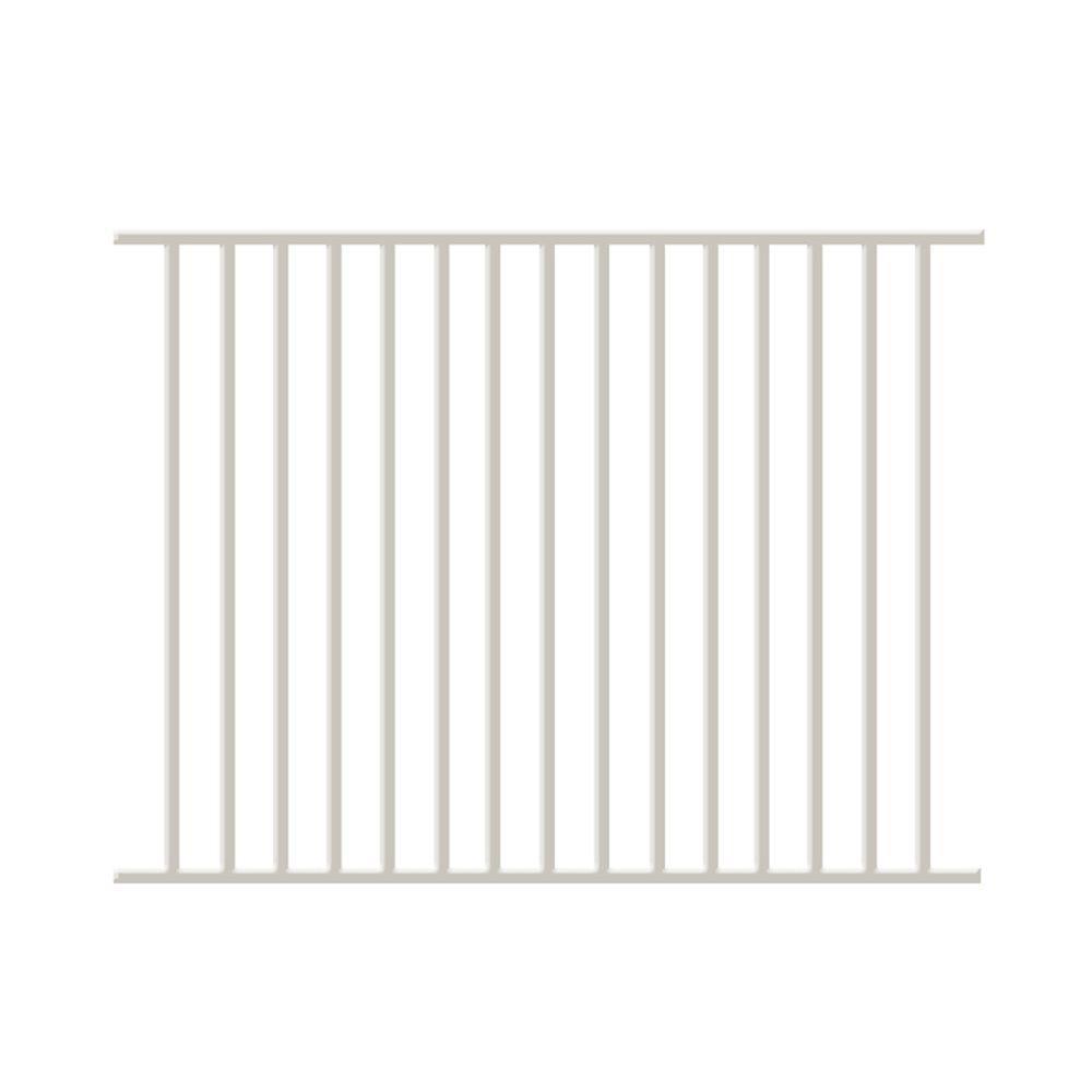 Newtown 4 ft. H x 6 ft. W White Aluminum Fence