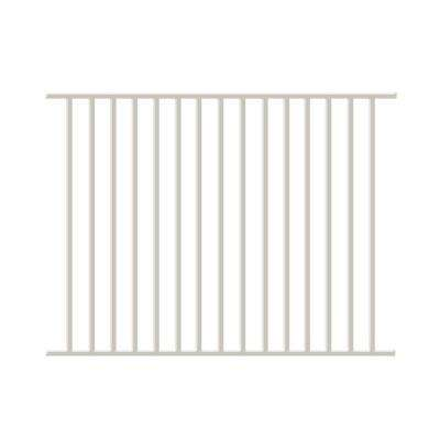 Newtown 4 ft. H x 6 ft. W White Aluminum Pre-Assembled Fence Panel