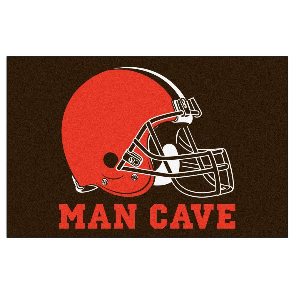 NFL Cleveland Browns Orange Man Cave 1.5 ft. x 2.5 ft. Indoor Area Rug