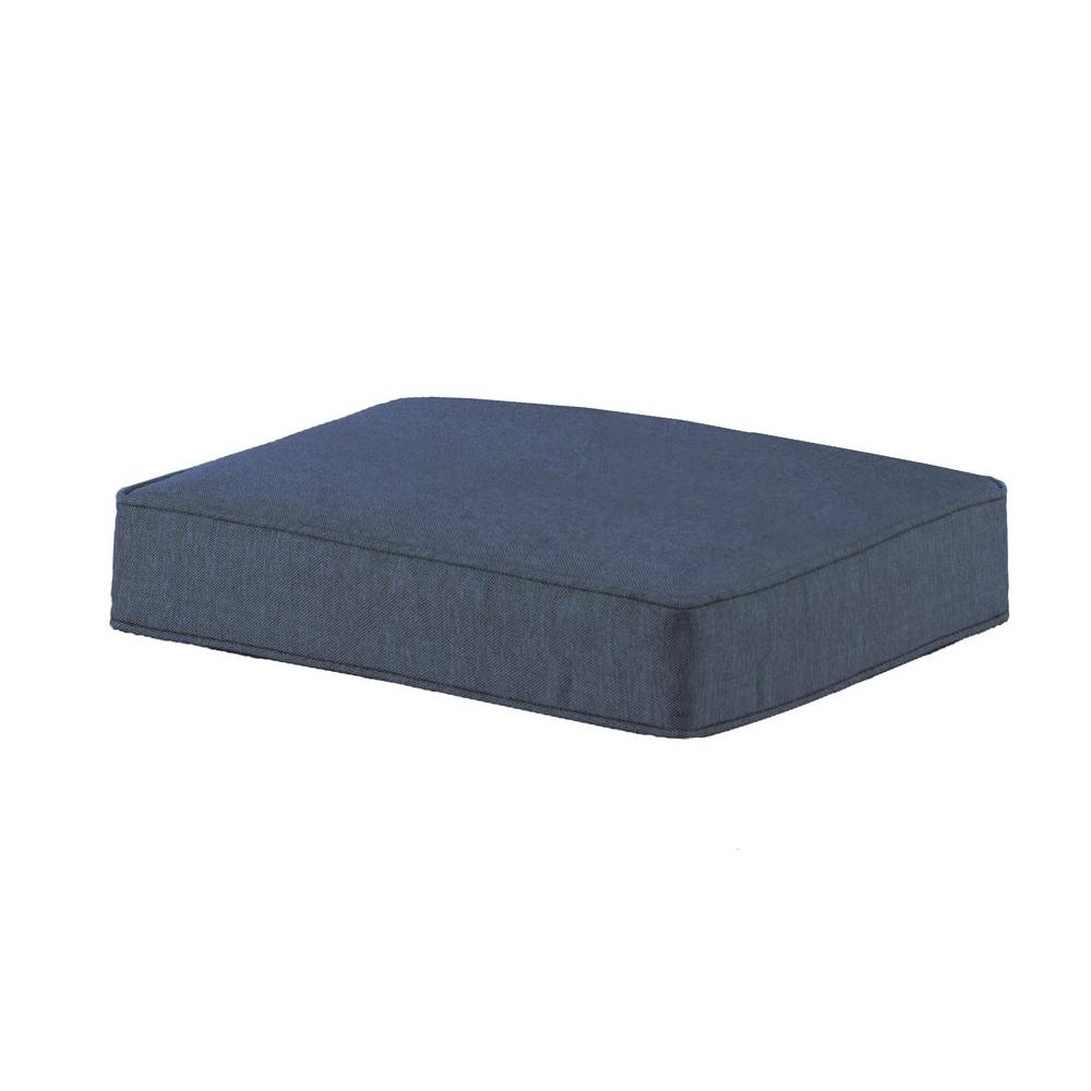 Spring Haven Blue Ottoman Cushion