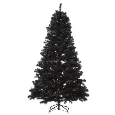 6 ft. Black Unlit Spruce Artificial Christmas Tree with Auto Open Design and 928 Tips