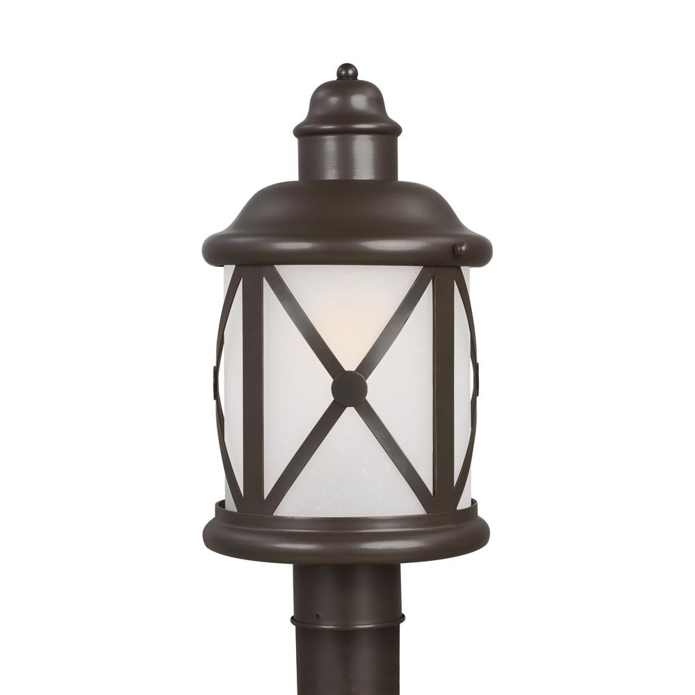 Sea gull lighting lakeview 1 light outdoor antique bronze post sea gull lighting lakeview 1 light outdoor antique bronze post light with led bulb sciox Images