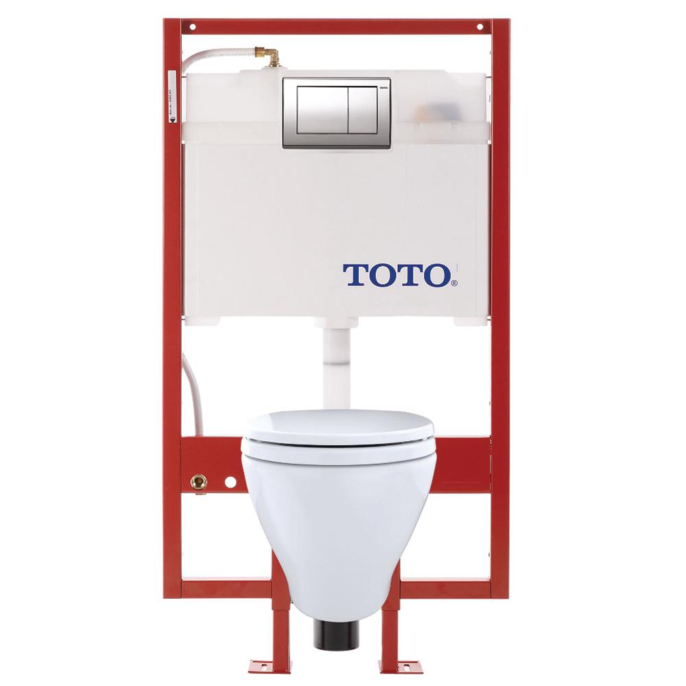 Aquia Duofit 0.9/1.6 GPF Dual Flush Elongated Wall-Mounted Toilet with In-Wall