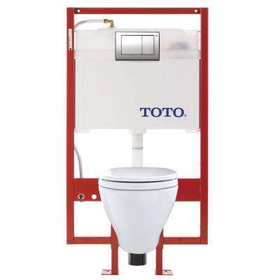 Aquia Duofit 2-piece 1.6 and 0.9 GPF Dual Flush Wall Mounted Elongated Toilet in Cotton White