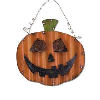 18.32 in. H Iron Pumpkin Wall Decor