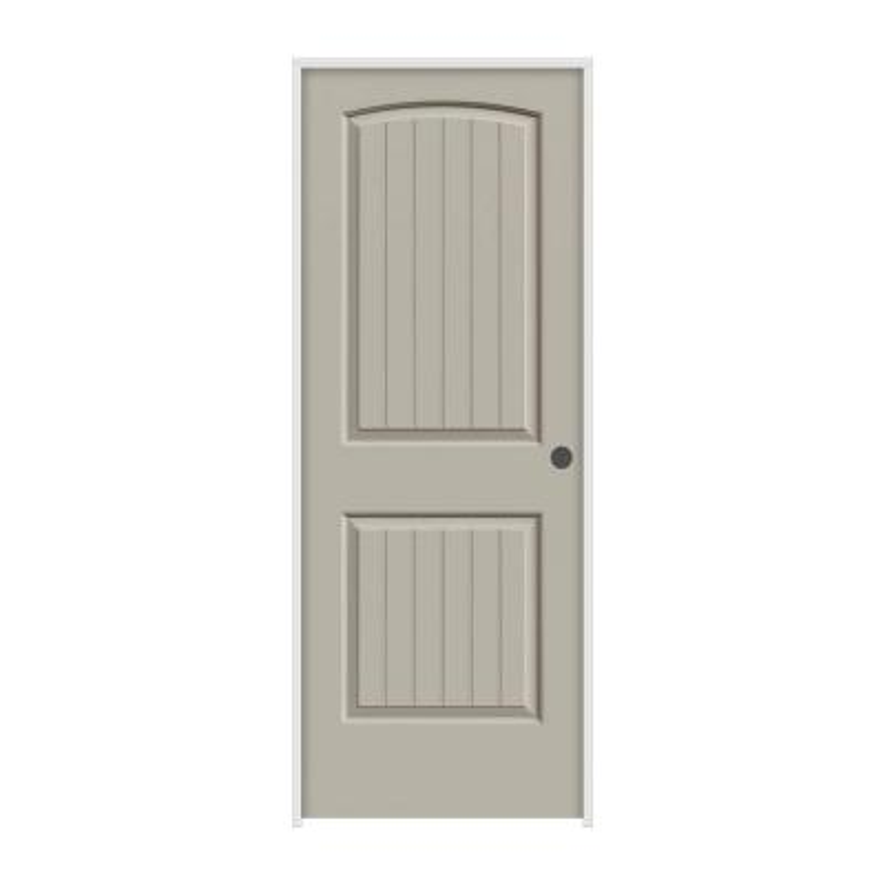 30 in. x 80 in. Santa Fe Desert Sand Left-Hand Smooth Solid Core Molded Composite MDF Single Prehung Interior Door