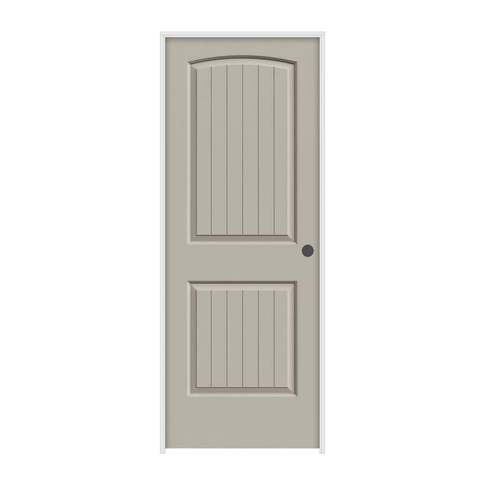 30 in. x 80 in. Santa Fe Desert Sand Painted Left-Hand Smooth Molded Composite MDF Single Prehung Interior Door