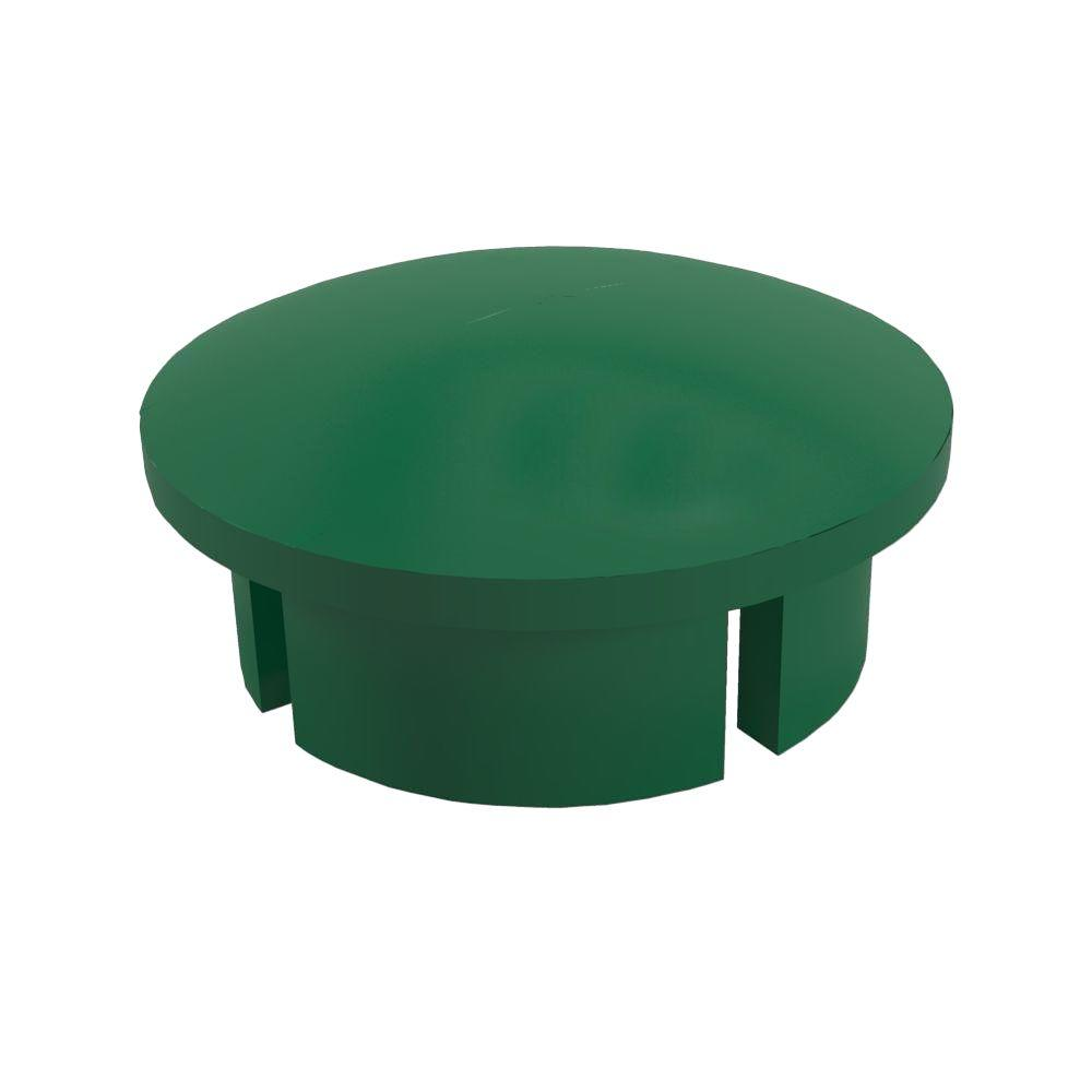 1/2 in. Furniture Grade PVC Internal Dome Cap in Green (10-Pack)