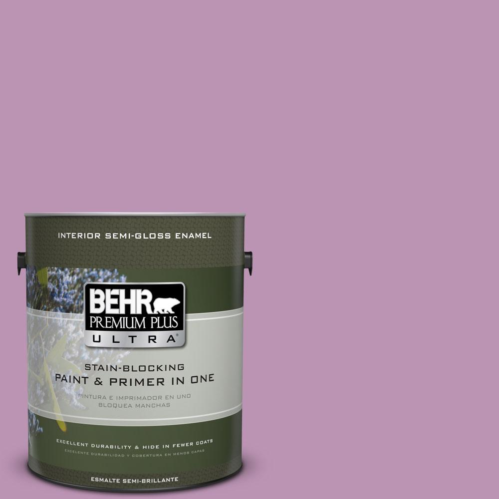 BEHR Premium Plus Ultra Home Decorators Collection 1-gal. #HDC-MD-10 Blooming Lilac Semi-Gloss Enamel Interior Paint