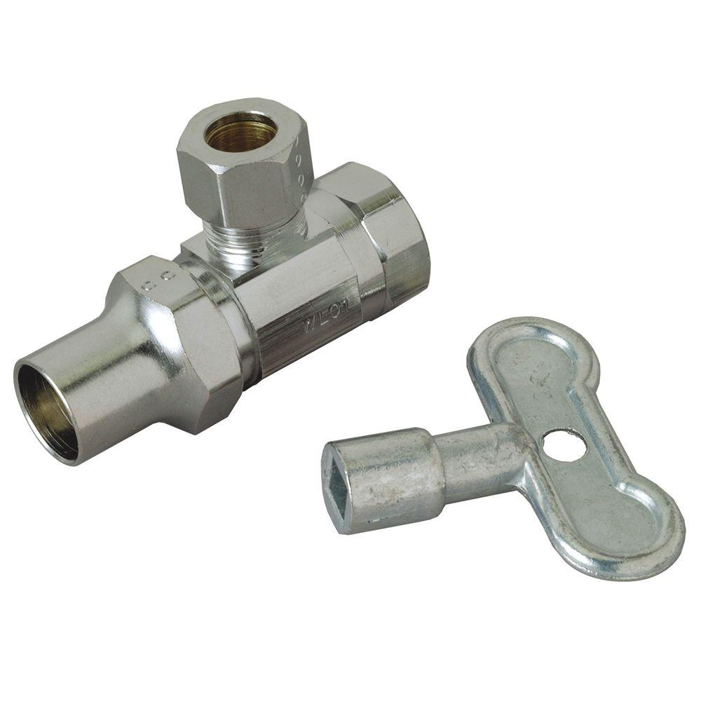 3/8 in. FIP Inlet x 3/8 in. O.D. Compression Outlet Brass