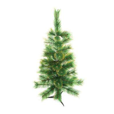 4 ft. Unlit Artificial Christmas Tree with Golden Tips