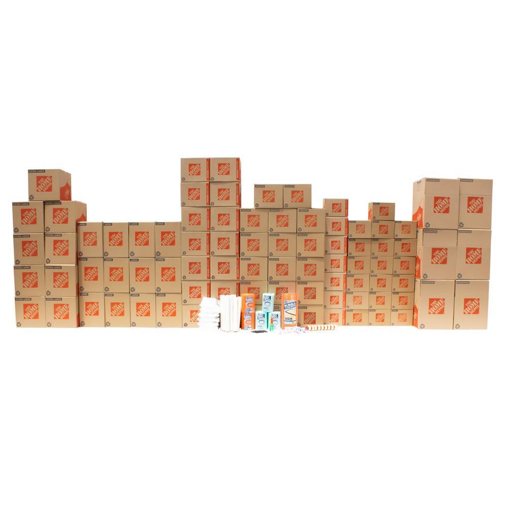 The Home Depot 80-Box 3 Bedroom Moving Box Kit