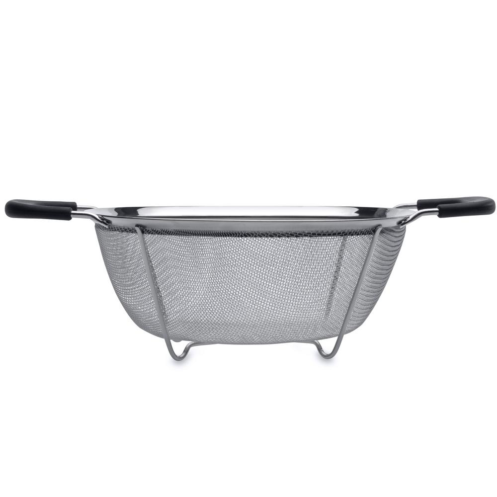 Essentials 7.68 in. Stainless Steel Round Mesh Colander