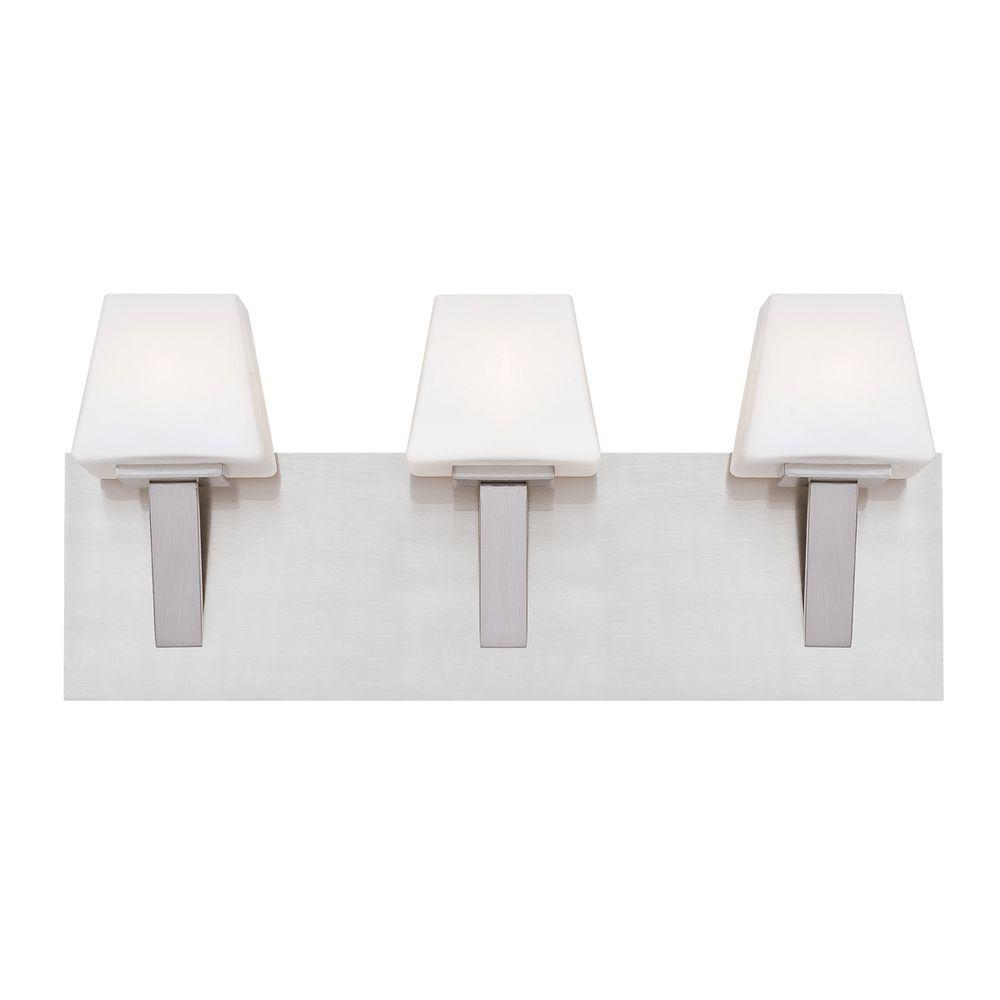 Eurofase Anglo Collection 3-Light Satin Nickel Bath Bar Light