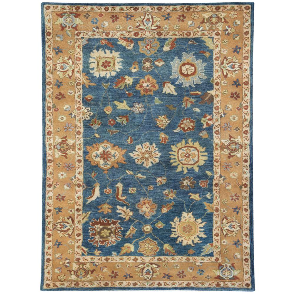 Charisma Mediterranean Blue 5 ft. x 8 ft. Indoor Area Rug