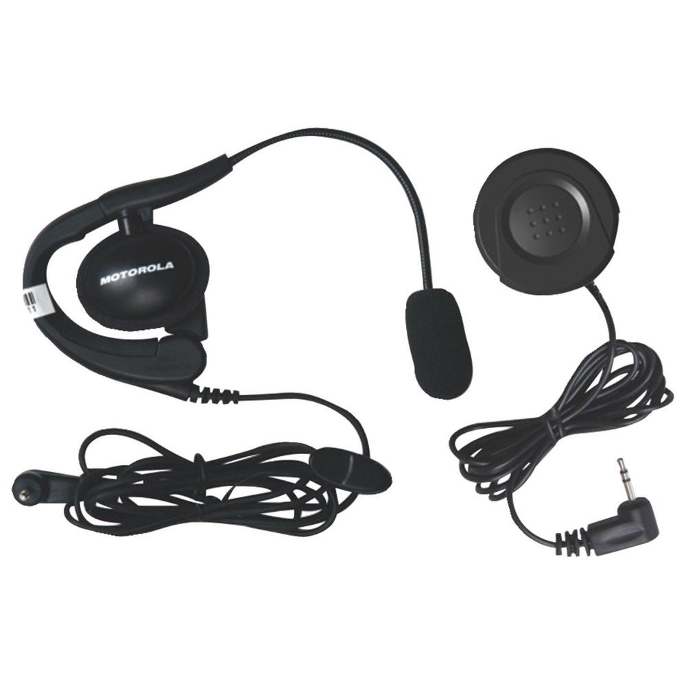 Motorola Push-to-Talk Button and Wired Headset with Boom Microphone ...