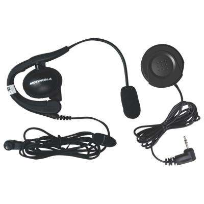 Push-to-Talk Button and Wired Headset with Boom Microphone Bundle