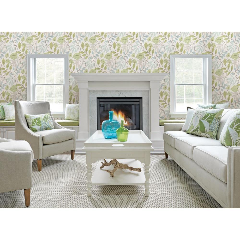 Beacon House Eden Green Modern Leaf Trail Wallpaper-2535-20627 ...