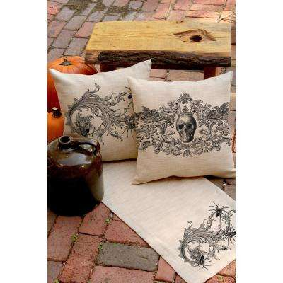 Gothic Natural Skull Decorative Pillow