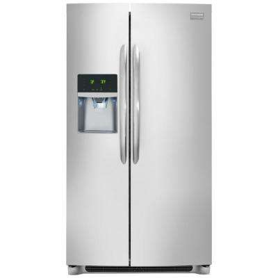 33 in. W 22.2 cu. ft. Side by Side Refrigerator in Smudge-Proof Stainless Steel, ENERGY STAR