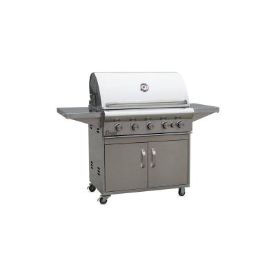 Ardor 5 Burner Propane Gas Grill w/ Cart in Stainless Steel