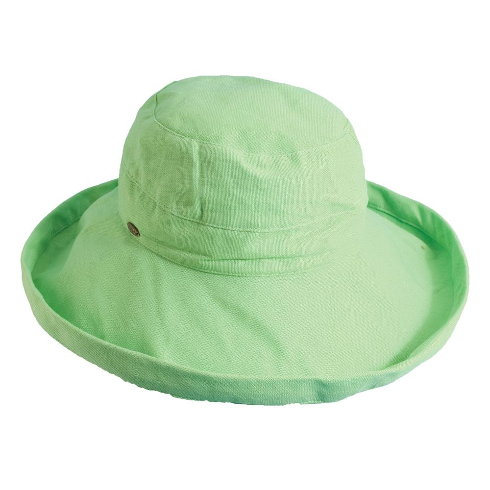 Scala Med Brim Cotton Hat-LC484-LIME - The Home Depot 7f02d6197999