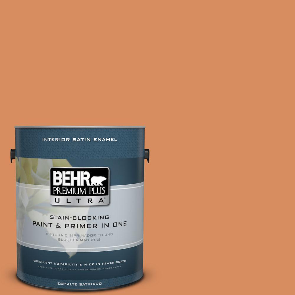 1-gal. #M220-6 Pumpkin Puree Satin Enamel Interior Paint