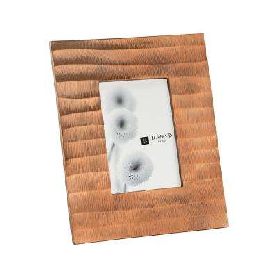 Metal Ripple 1-Opening 4 in. x 6 in. Copper Picture Frame