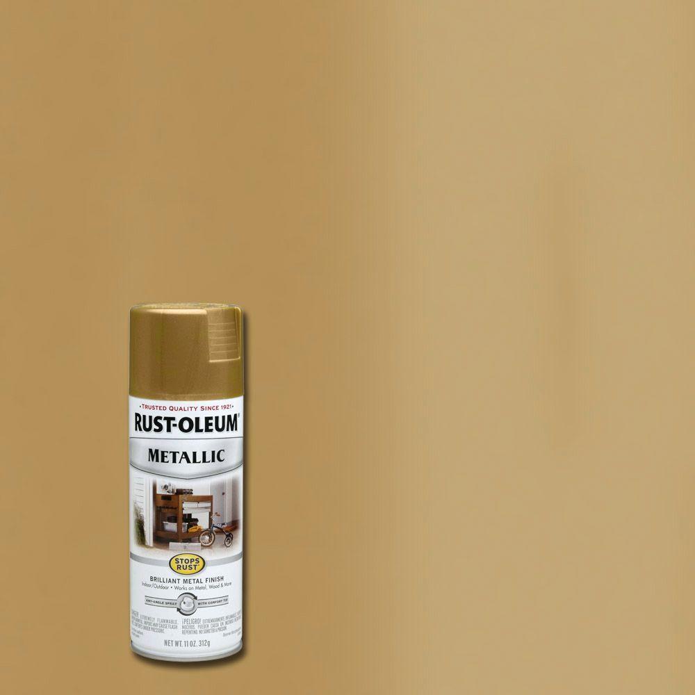 Rust-Oleum Stops Rust 11 oz. Metallic Burnished Brass Protective Spray Paint (6-Pack)