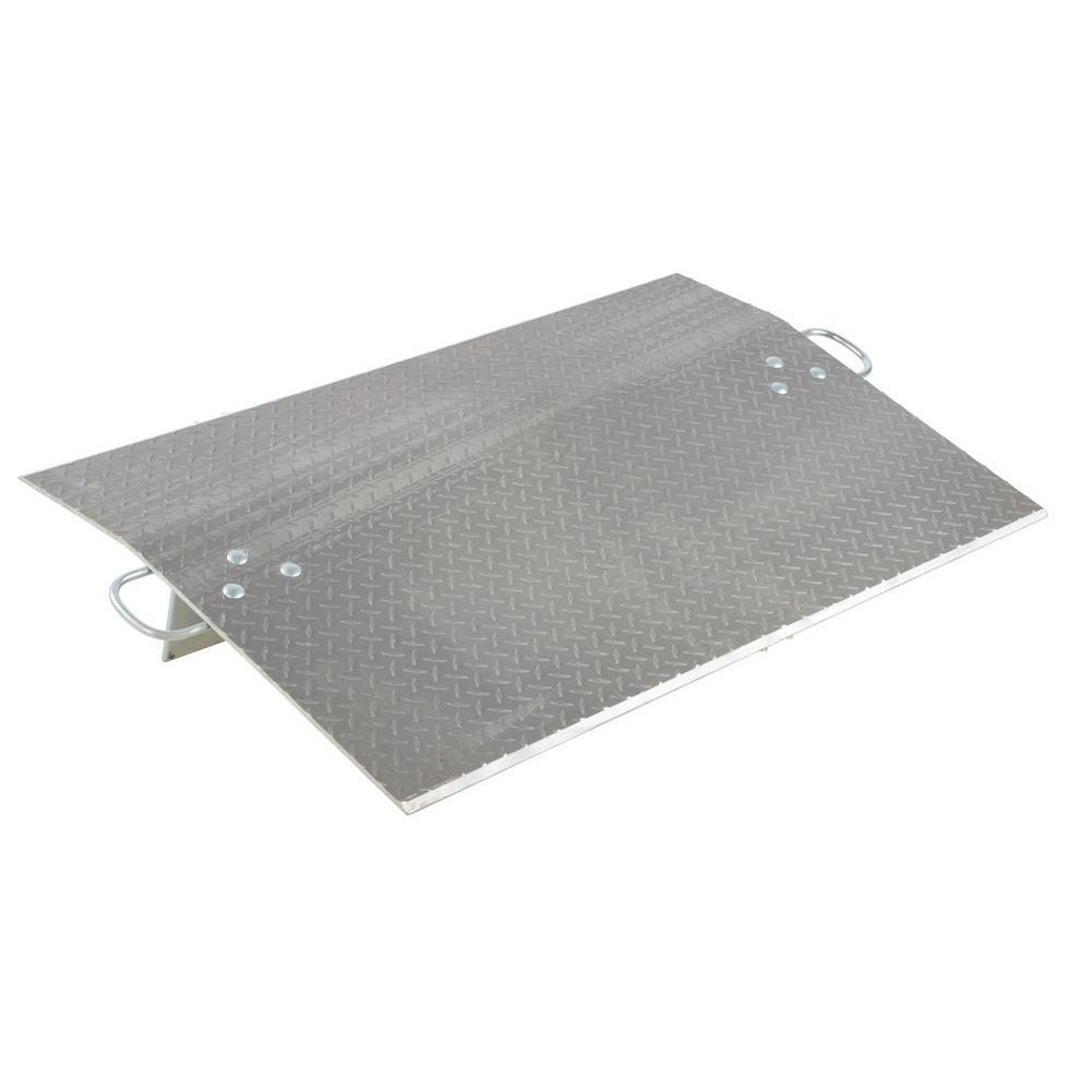 4,100 lb. 48 in. x 30 in. x 0.38 in. Aluminum Economy Dockplate