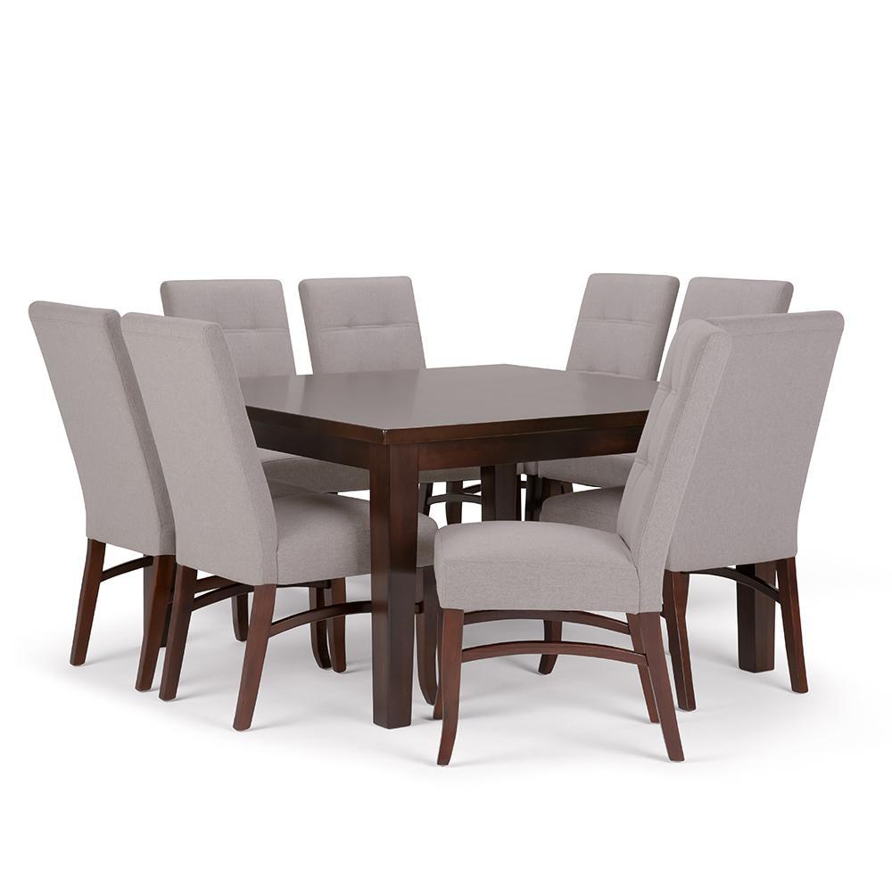 Simpli Home Ezra 9-Piece Cloud Grey Dining Set-AXCDS9EZ-CLG - The ...