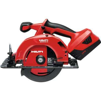 22-Volt SCW Advanced Compact Battery 6-1/2 in. Cordless Circular Saw with Tool Bag