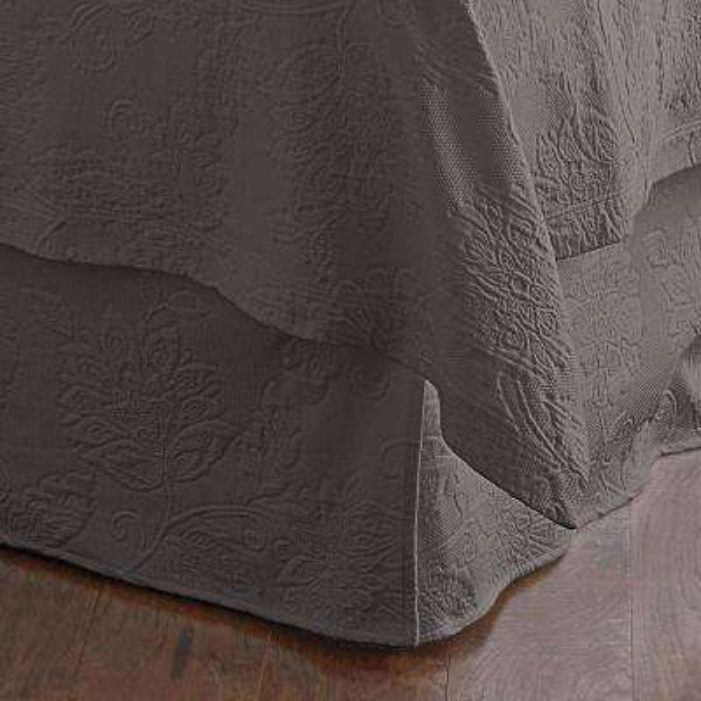 Dark Gray Bed Skirts Dust Ruffles Bedding Bath The Home Depot