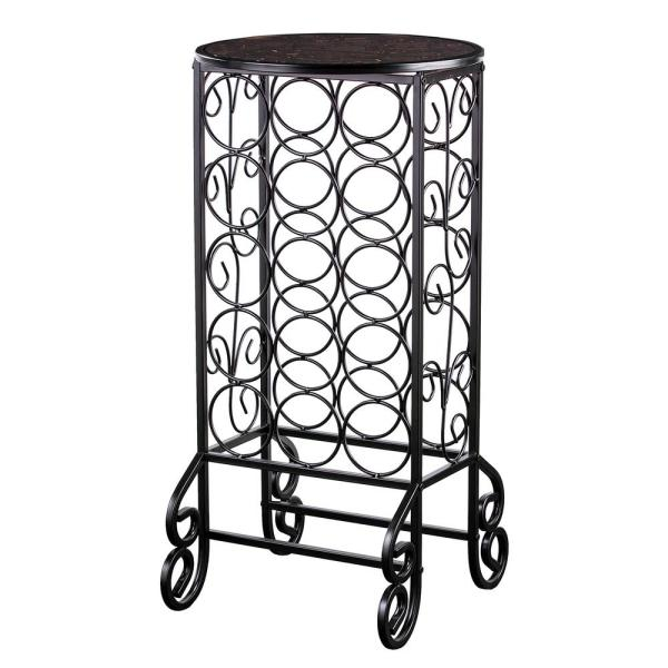 Southern Enterprises 15-Bottle Black Floor Wine Rack GA0355T