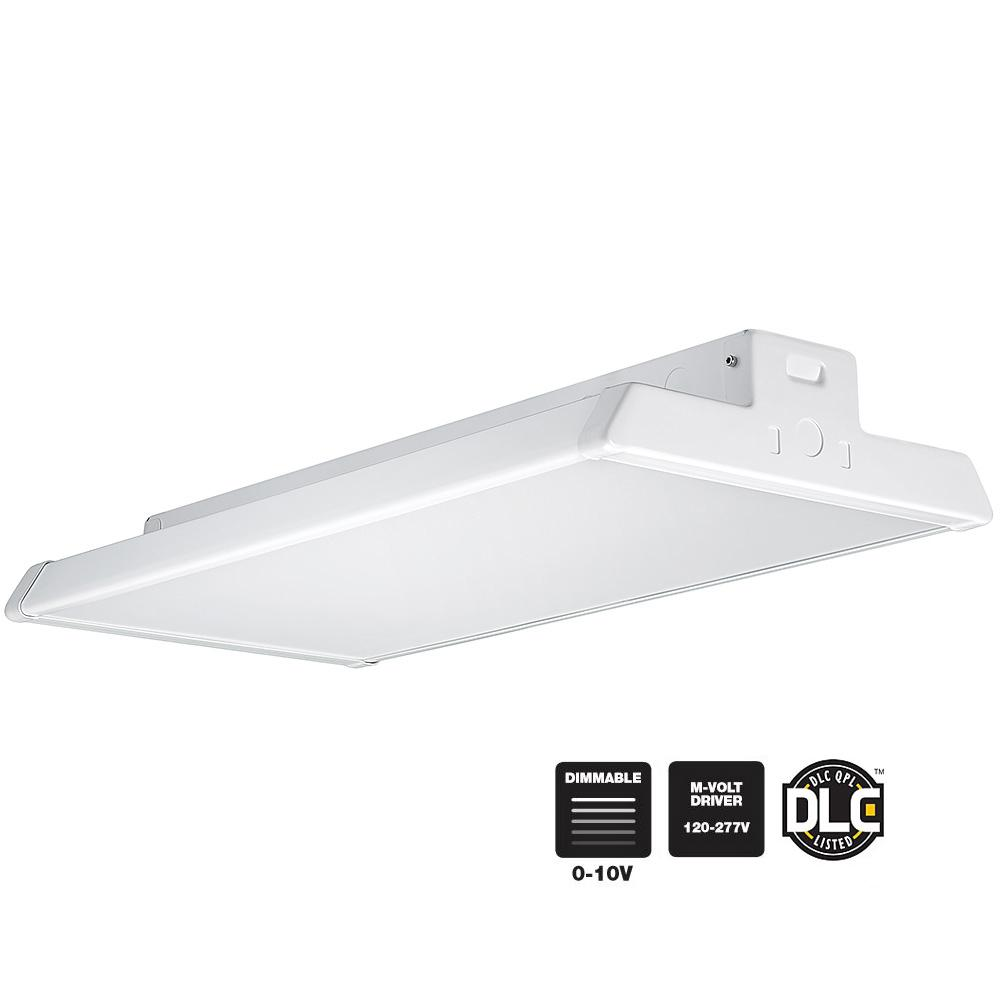 2 ft. Linear White Integrated LED High Bay Warehouse Light with