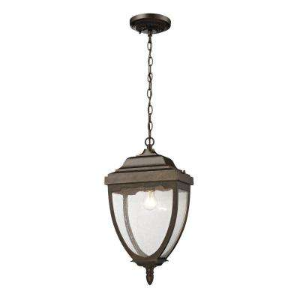 Brantley Place 1-Light Ceiling Outdoor Hazelnut Bronze Pendant