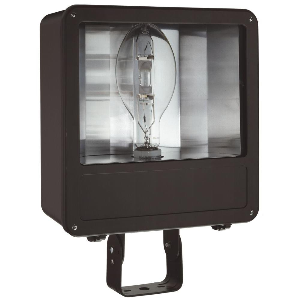 Lithonia Lighting Outdoor Metal Halide Bronze Flood Light With Glass Lens  And Pulse Start Ballast F250ML SCWA   The Home Depot