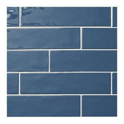 LuxeCraft Blue 3 in. x 12 in. Glazed Ceramic Subway Wall Tile (12 sq. ft. / case)