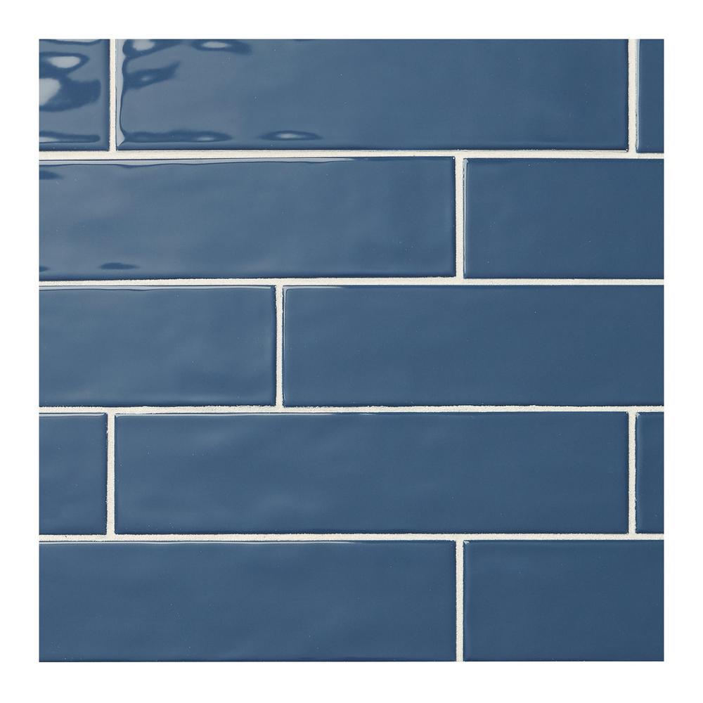 Fireplace Blue Ceramic Tile