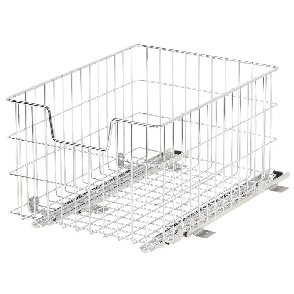 TRINITY EcoStorage 13 in. W x 17.75 in. D x 11 in. H Steel Wire in Cabinet Pull-Out Wire Basket