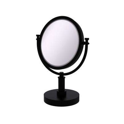 8 in. x 15 in. x 5 in. Vanity Top Single Make-Up Mirror 2X Magnification in Matte Black